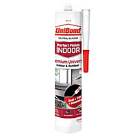 UniBond Perfect finish White Silicone-based General-purpose Sealant, 300ml