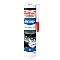 UniBond Healthy kitchen & bathroom Mould resistant Black Silicone-based Sealant, 300ml