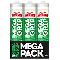 UniBond MegaGrip Solvent based Grab adhesive, Pack of 3