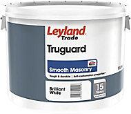 Leyland Trade Pure brilliant white Smooth Matt Masonry paint, 10L
