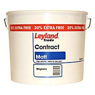 Leyland Trade Contract Magnolia Matt Emulsion paint, 12L
