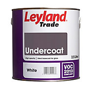 Leyland Trade White Metal & wood Primer & undercoat, 2.5L