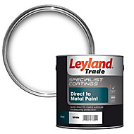Leyland Trade Specialist White Semi-gloss Metal paint, 0.75L