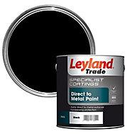 Leyland Trade Specialist Black Semi-gloss Metal paint, 2.5L