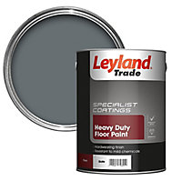 Leyland Trade Heavy duty Slate Satin Floor & tile paint, 5L