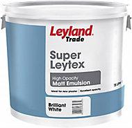 Leyland Trade White Matt Emulsion paint, 15L