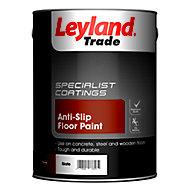 Leyland Trade Slate Semi-gloss Floor paint, 5L