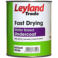 Leyland Trade Brilliant white Metal & wood Undercoat, 0.75L