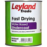 Leyland Trade Brilliant white Metal & wood Undercoat, 0.75L