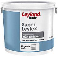 Leyland Trade Magnolia Matt Emulsion paint, 15L