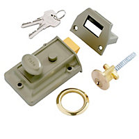 Yale Brass effect LH & RH Night latch, (H)66mm (W)93mm