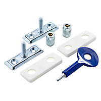 Yale Chrome effect Metal Window Stay lock, Pack of 2