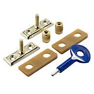 Yale Brass effect Metal Window Stay lock, Pack of 2