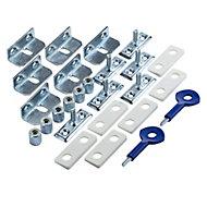Yale Satin Chrome effect Metal Window Screw lock, Pack of 6