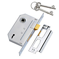 Yale 64mm Chrome effect Metal 2 lever Sashlock