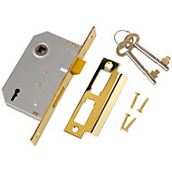 Yale 64mm Brass effect 2 Lever Mortice sashlock