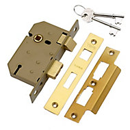 Yale 64mm Brass effect Metal 3 lever Sashlock