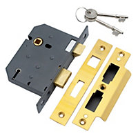 Yale 76mm Brass effect 5 Lever Mortice sashlock
