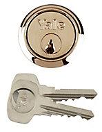 Yale Brass-plated Metal Single Rim Cylinder lock, (L)42mm