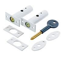 Yale White Metal Deadlock, Pack of 2