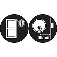 Yale Grey Brass effect LH & RH Deadlock Night latch, (H)70mm (W)62mm