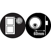 Yale Grey Brass effect LH & RH Deadlock Night latch, (H)70mm (W)93mm