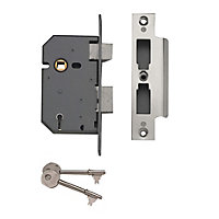 Yale 64mm Chrome effect Metal 5 lever Sashlock