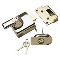 Yale 60mm Brass effect Night latch P-BS1-BLX-PB-60