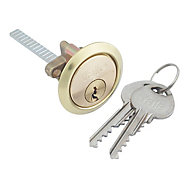 Yale High security Brass-plated Metal Single Rim Cylinder lock, (L)83mm