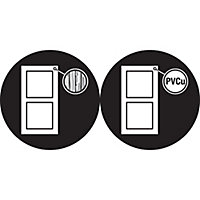 Yale Chrome effect Metal Patio door lock
