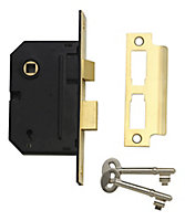 Yale 76mm Chrome effect Metal 3 lever Sashlock