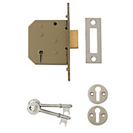 Yale 64mm Polished Chrome-plated Metal 3 lever Deadlock