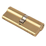 Yale KM Series Brass effect Single Euro Cylinder lock, (L)85mm (W)17mm