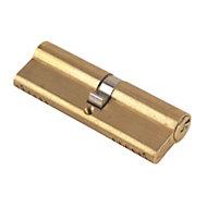 Yale 95 mm Brass-plated Brass Euro cylinder lock