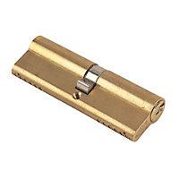 Yale KM Series Brass effect Single Euro Cylinder lock, (L)95mm (W)17mm