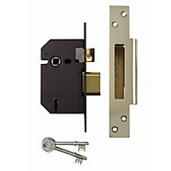 Yale 64mm Polished Brass 5 lever Sashlock