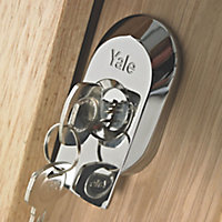 Yale Chrome effect Deadlock Night latch, (H)66mm (W)40mm