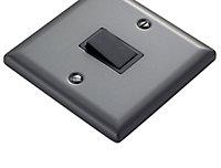 Volex 10A 1 way Matt grey pewter effect Single Light Switch
