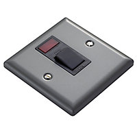Volex 20A Pewter effect Rocker Control switch