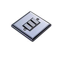 Volex 10A 2 way Polished black iridium effect Triple Light Switch