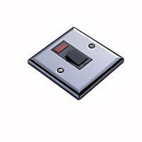 Volex 20A Black Iridium effect Cooker Switch