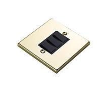 Volex 10A 2 way Brass effect Triple Light Switch