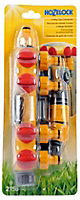 Hozelock Grey, red & yellow 4-way hose pipe connector
