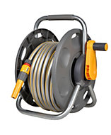 Hozelock 2 in 1 Freestanding Hose reel & hose (L)25 m