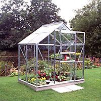 6x4 Horticultural glass Apex Greenhouse
