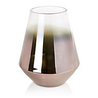 Grey Tapered Glass Vase, Medium