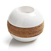 Small Cream Ceramic & rope Tea light holder
