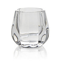 Facet Glass Candle holder, Small