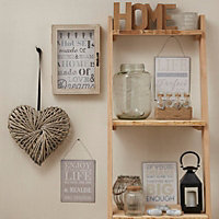 Life doesn't have to be perfect Beige Hanging plaque (W)200mm (H)250mm