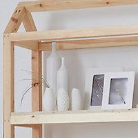 White Matt Dash Ceramic Bottle, Small